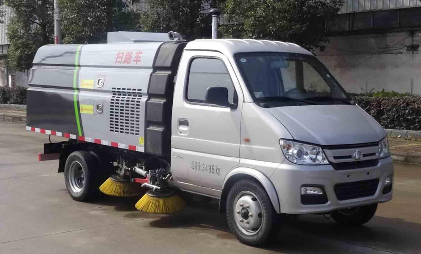 小型扫地车 小型扫路车 长安扫路吸尘车