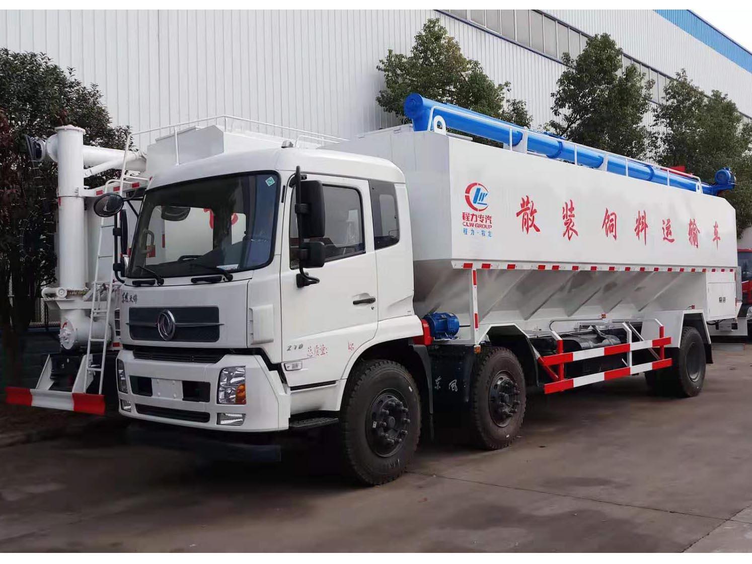 东风天锦30方15吨散装饲料车 可分期上本地牌