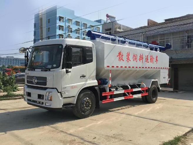 东风天锦12吨22方散装饲料车 可定制散装饲料罐