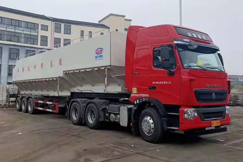 60方30吨散装饲料半挂车